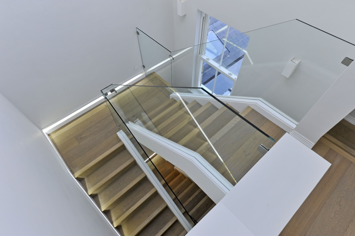 Stairs from second floor landing