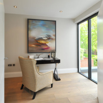 The study with access to roof terrace
