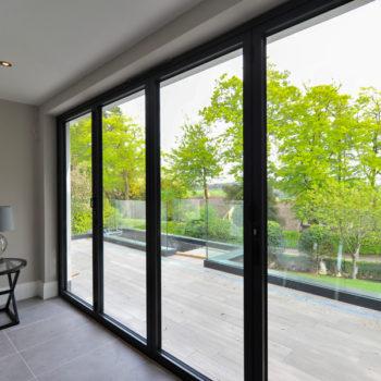 Aluminium windows & sliding door frames, outline the exterior view