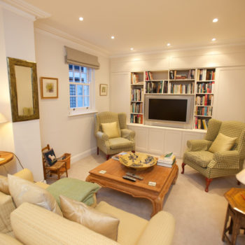 Living room of remodelled house in Haygarth Place - Wimbledon
