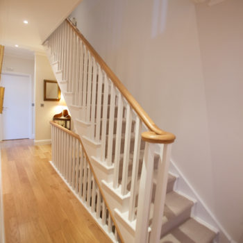 Remodelled Staircase of property in Haygarth Place, Wimbledon