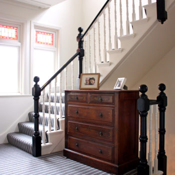 New staircase in a house as part of the refurbishments